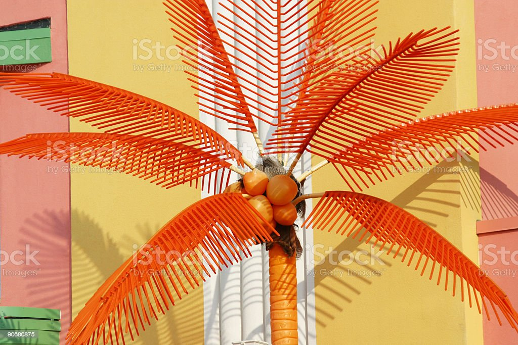 Art Deco Fake Coconut Palm Tree royalty-free stock photo