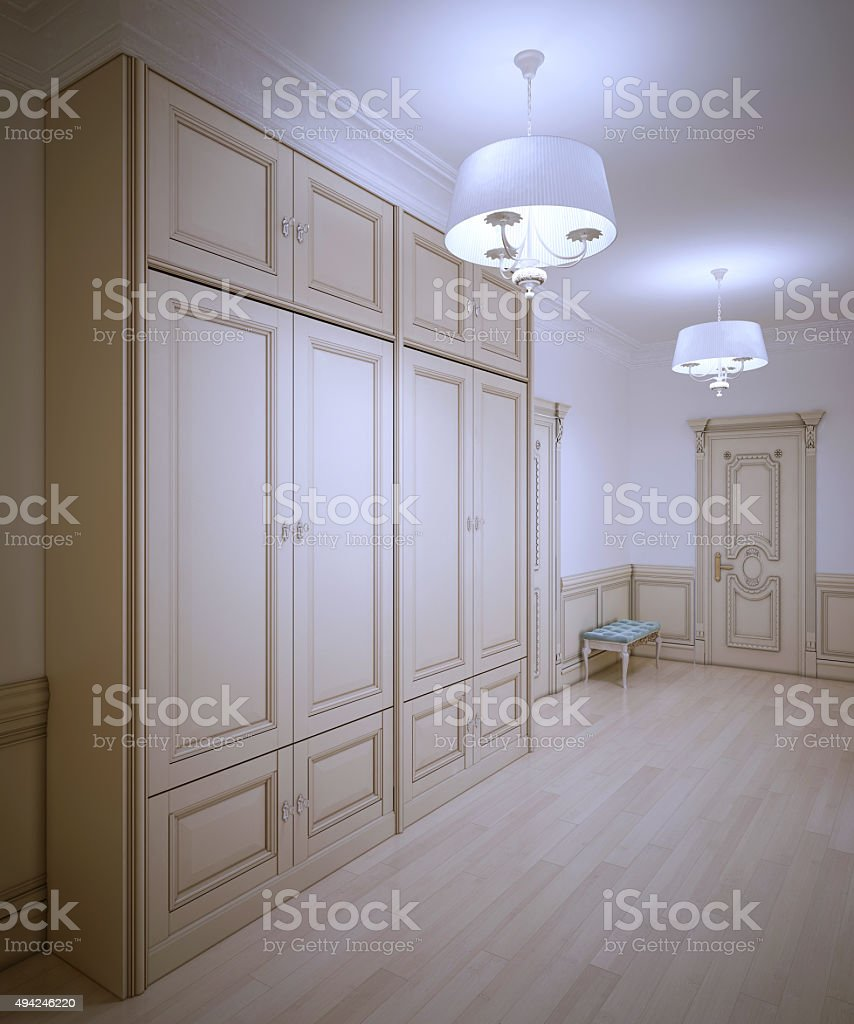 Art deco hallway trend stock photo