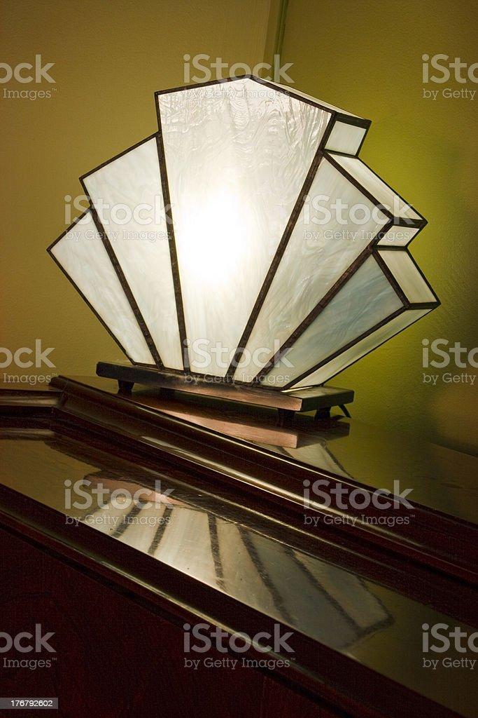Art deco lamp stock photo