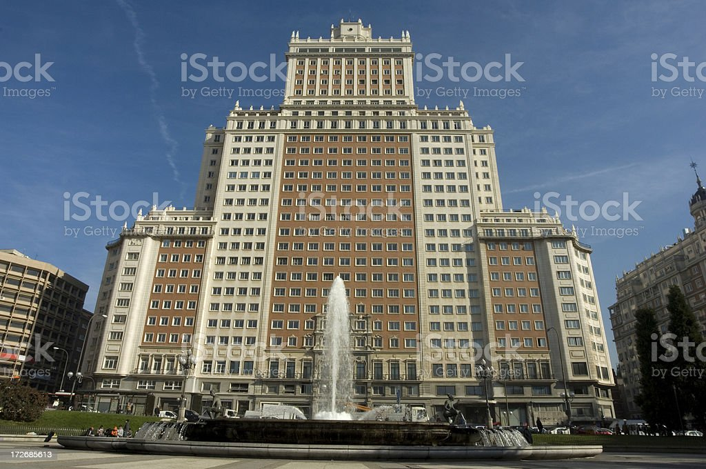Art Deco Madrid royalty-free stock photo