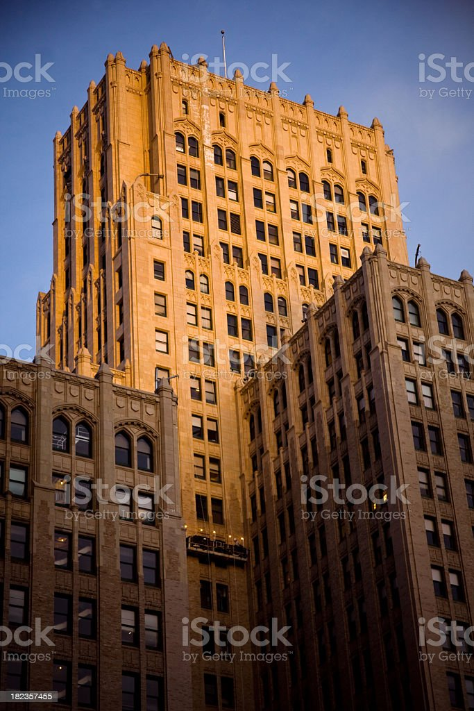 Art Deco Office Building royalty-free stock photo