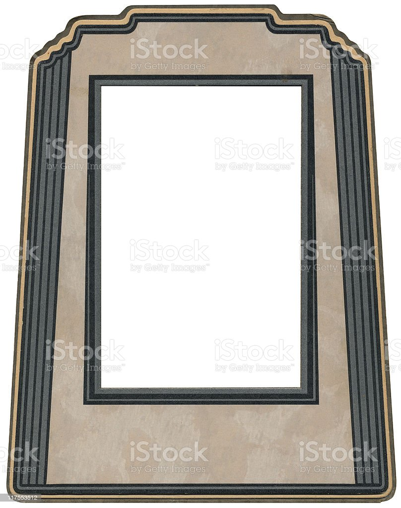 Art Deco photo Frame stock photo