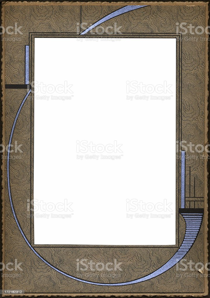 Art Deco photo frame royalty-free stock photo