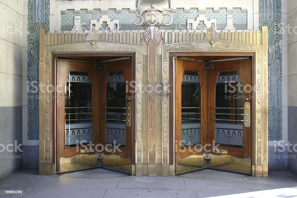 Art Deco Revolving Doors royalty-free stock photo