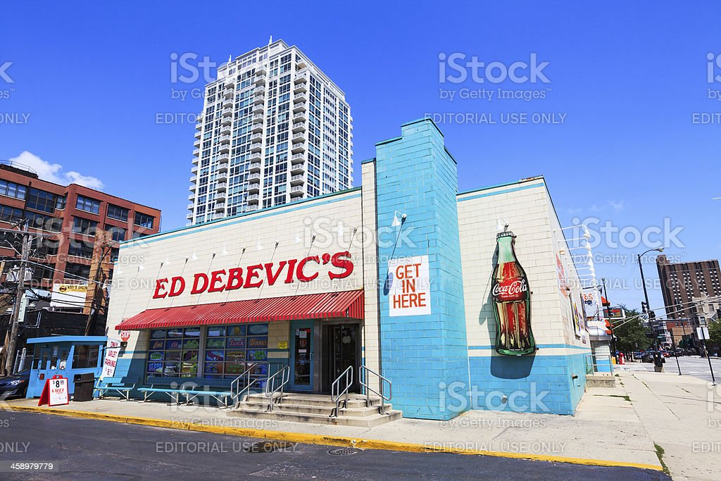 Art Deco style Diner in Chicago royalty-free stock photo