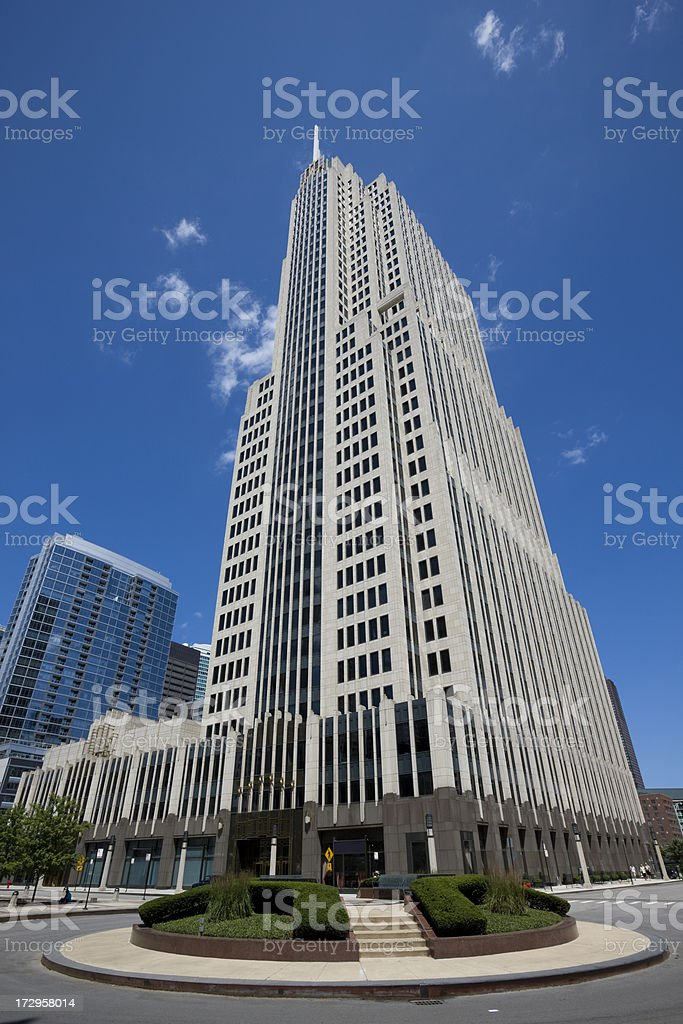 Art Deco Tower in Chicago stock photo