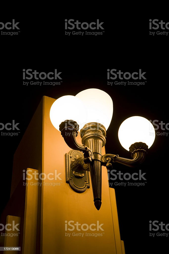 Art Deco Wall Sconce royalty-free stock photo