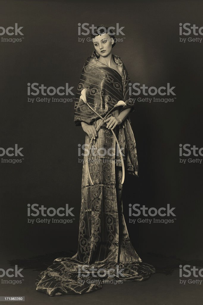 Art Deco.Lonely elegance royalty-free stock photo