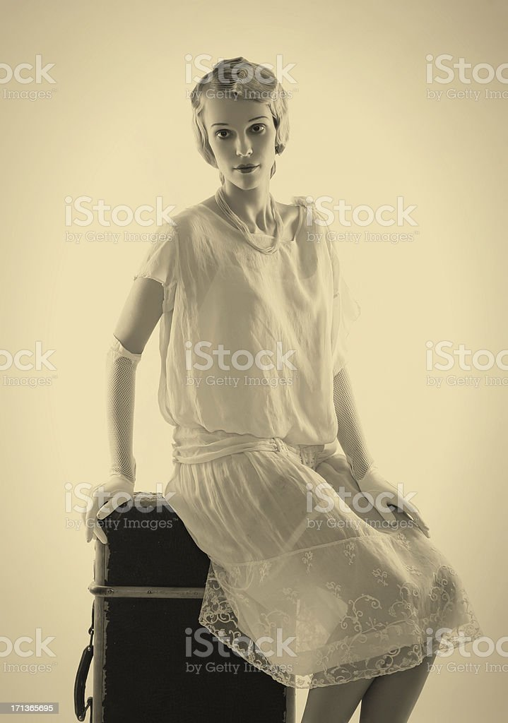 Art Deco.Long expectation stock photo