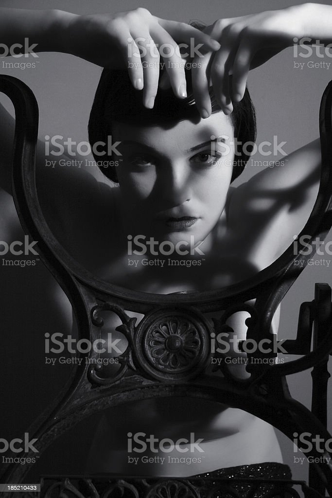 Art Deco.Shadow stock photo