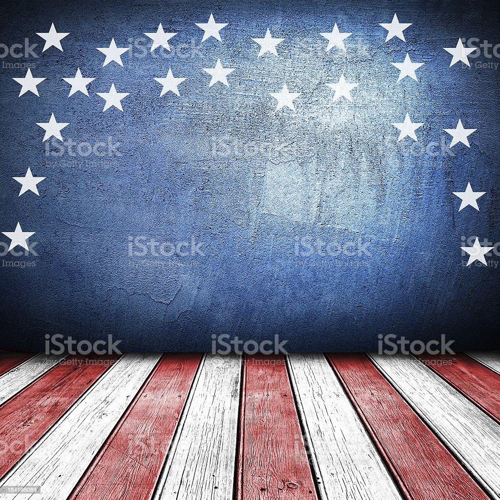 USA art design on stylized stage stock photo