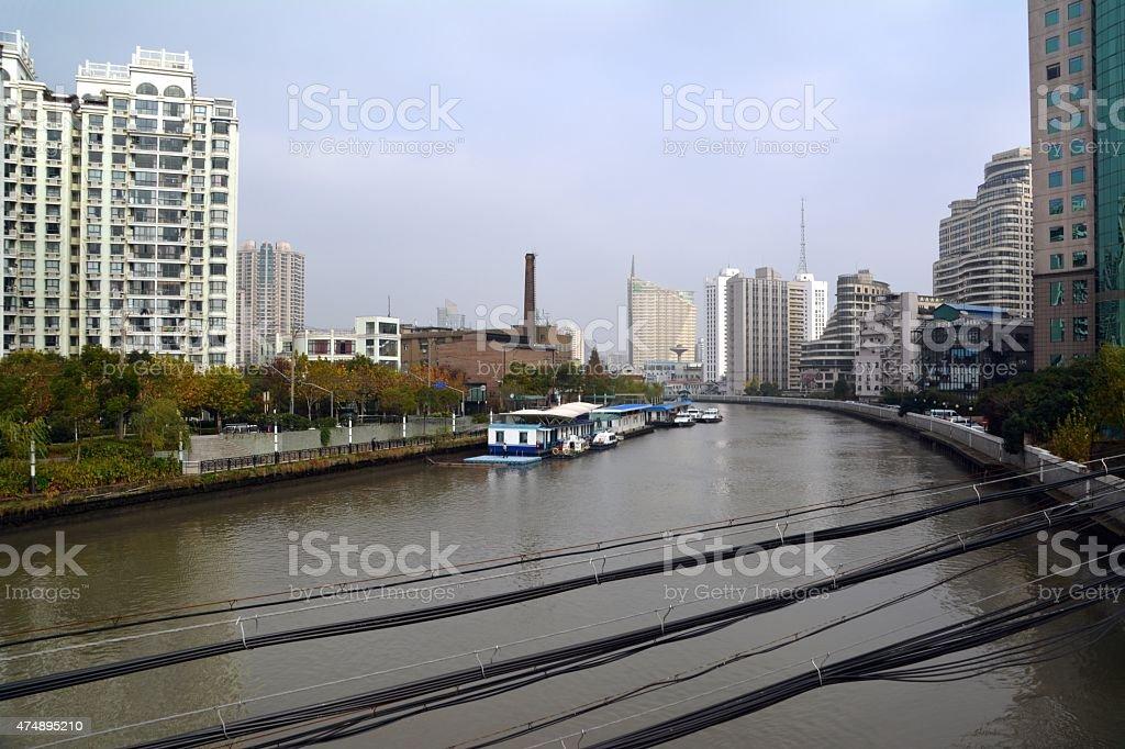 M50 art district on Suzhou creek, Shanghai stock photo