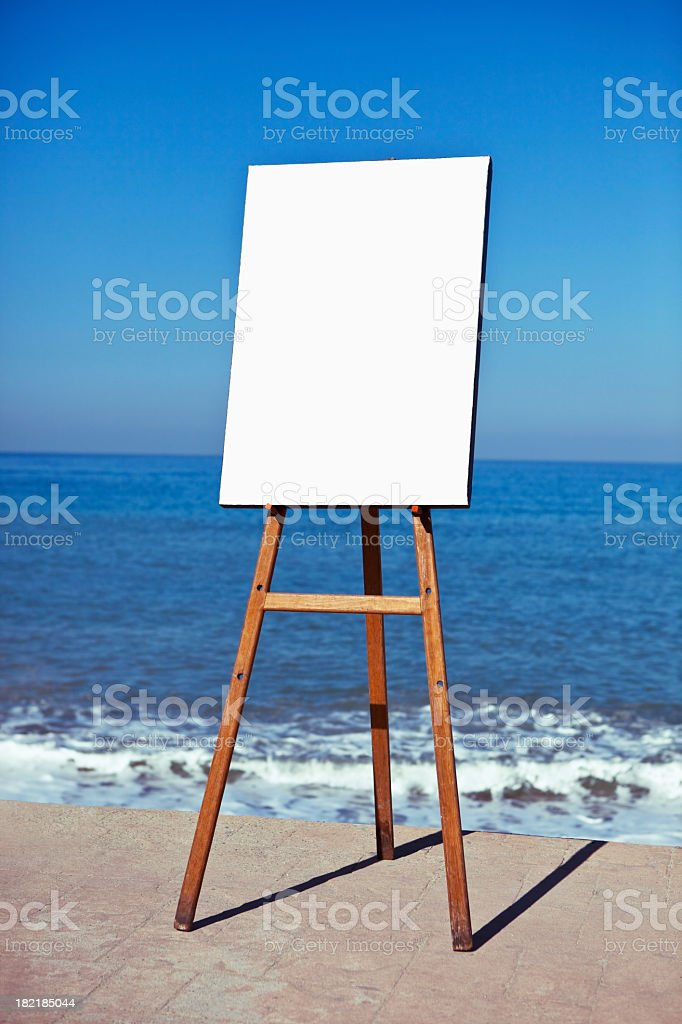 Art Easel in Puerto Vallarta royalty-free stock photo