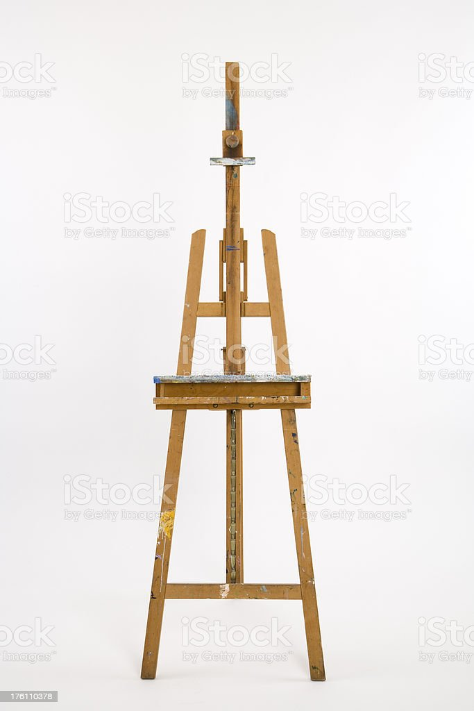 Art easel on white seamless royalty-free stock photo