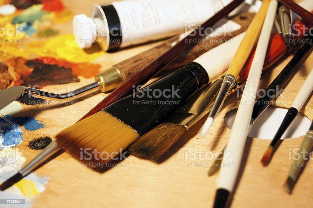 Art Equipment royalty-free stock photo