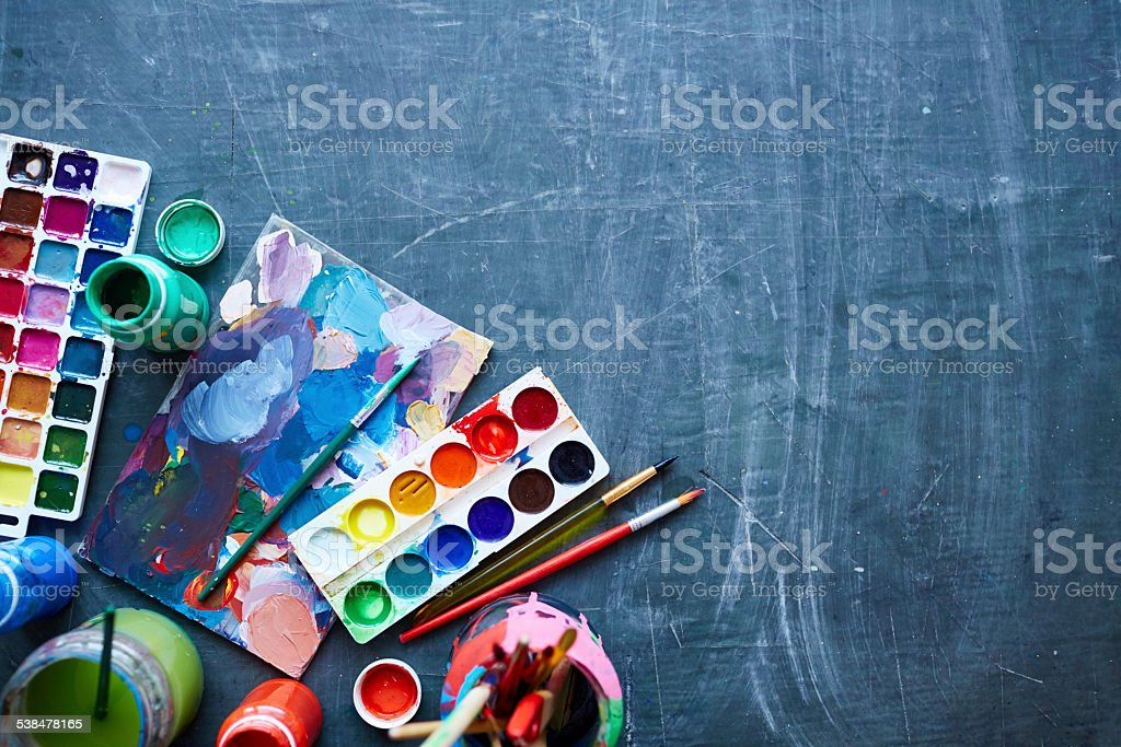 Art equipment stock photo