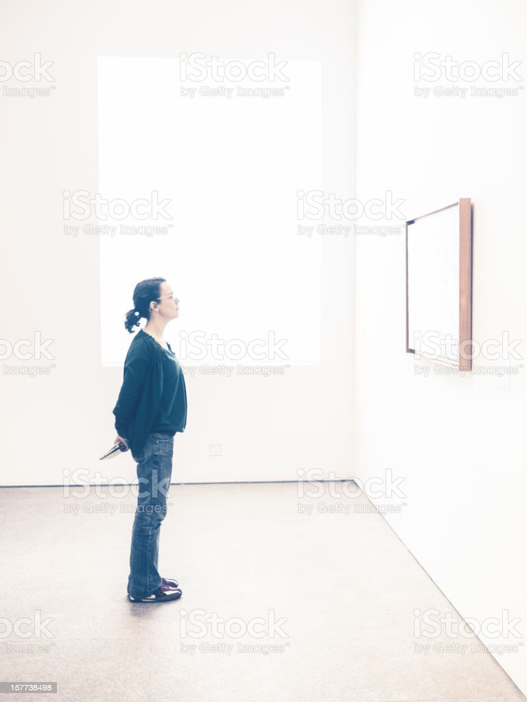 Art Exhibition at the Museum royalty-free stock photo