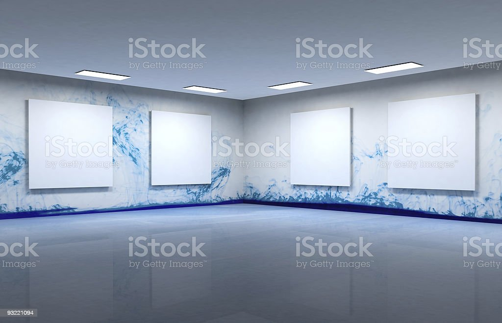 Art gallery clear space royalty-free stock photo