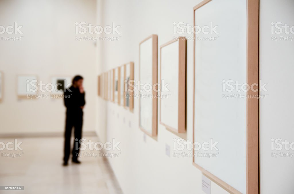 Art gallery stock photo