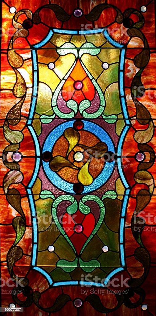 Art Glass Window stock photo