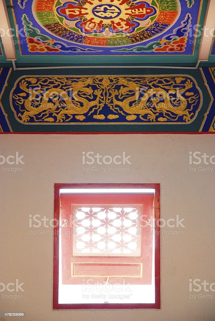 Art in Chinese temple royalty-free stock photo