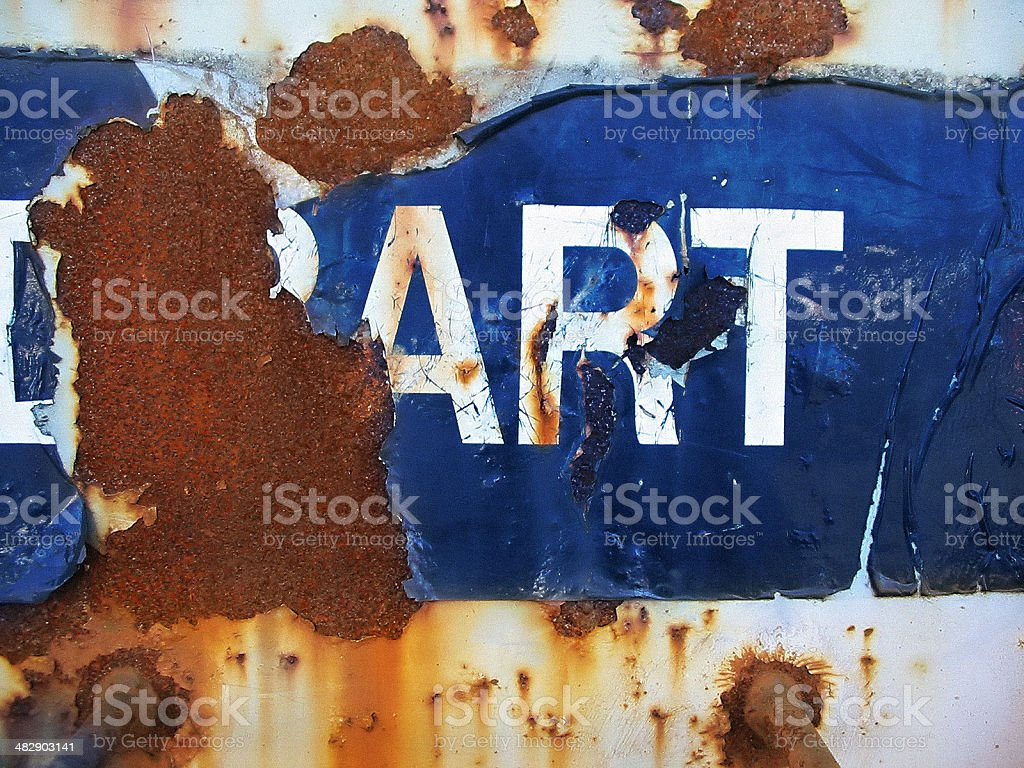 Art in the beauty of decay royalty-free stock photo
