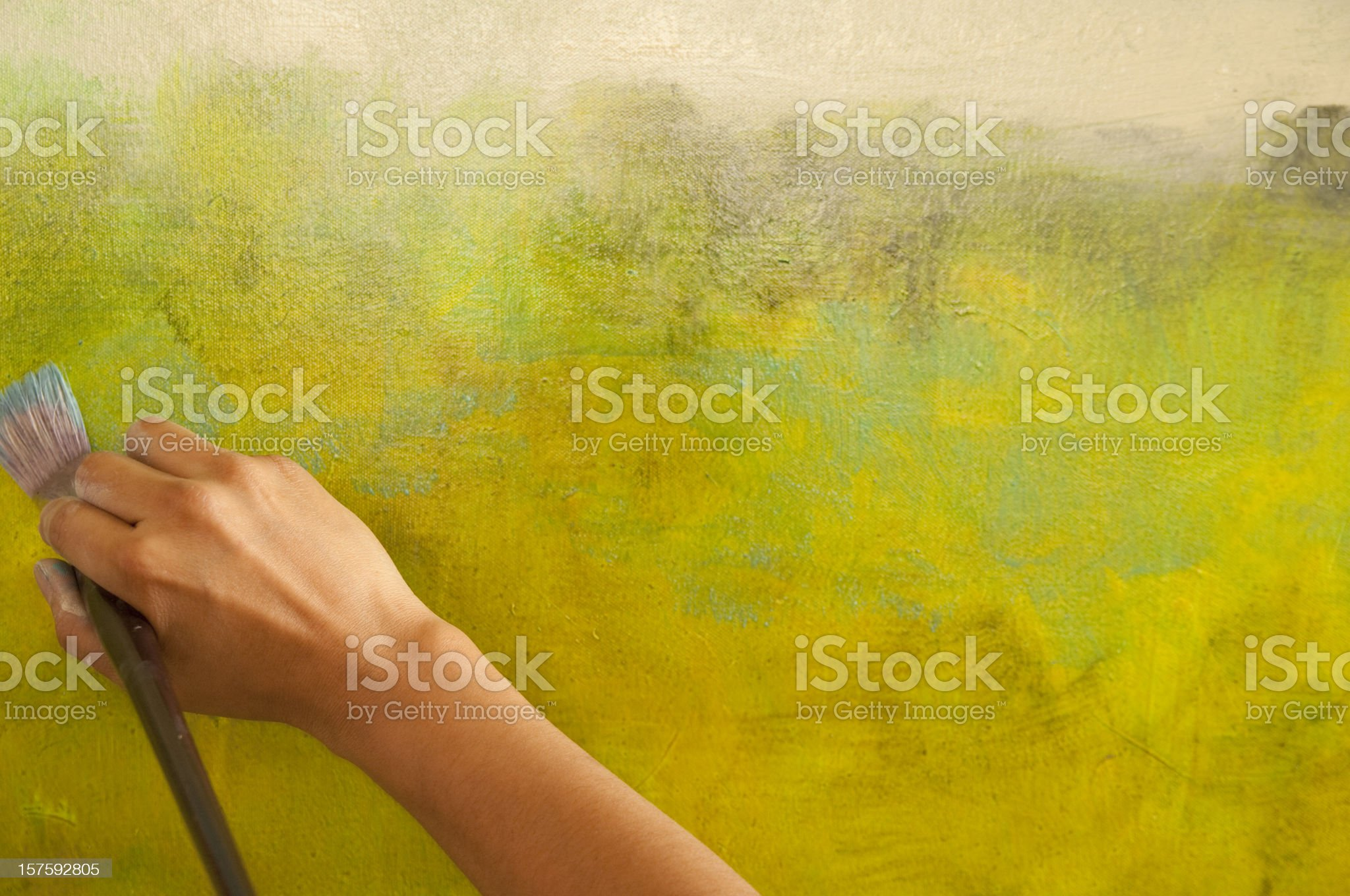 Art in the Making royalty-free stock photo