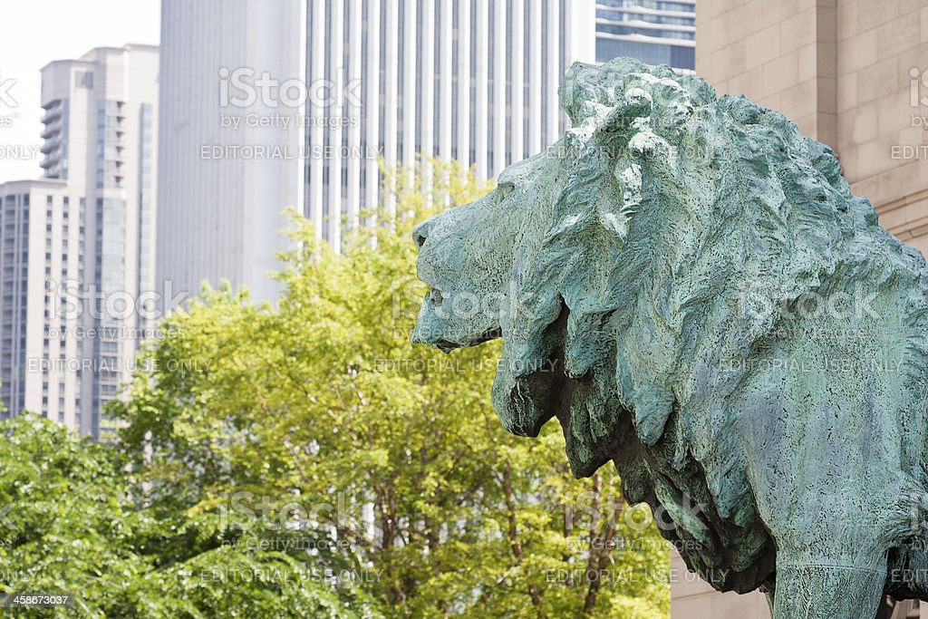 Art Institute Lion royalty-free stock photo