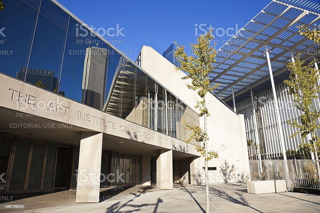 Art Institute of Chicago royalty-free stock photo