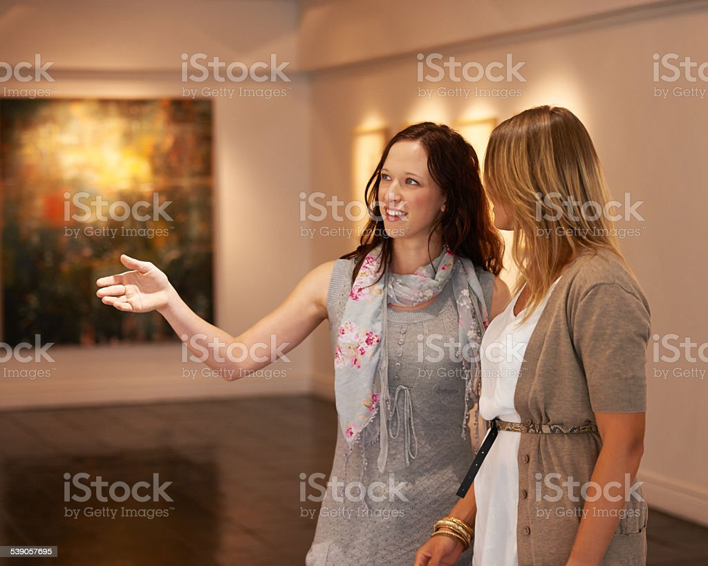 Art is in the eyes of the beholder stock photo
