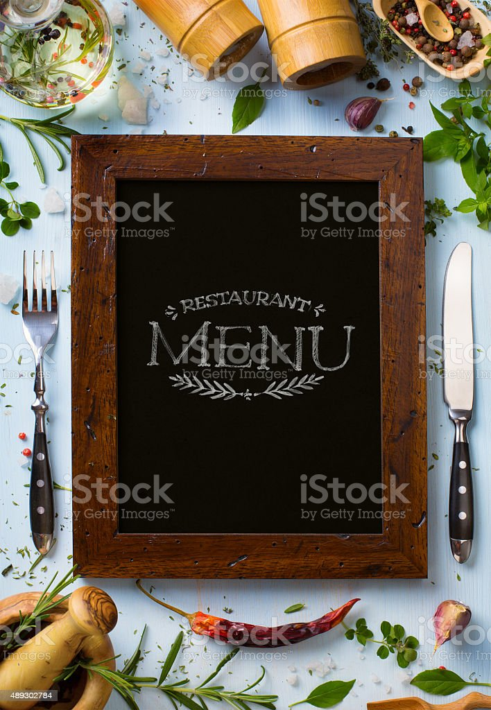 Art italian home cooking background; restaurant week stock photo