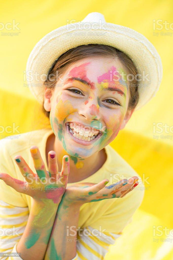 Art lessons for kids stock photo