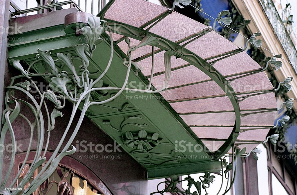 Art Nouveau - Architectural Detail royalty-free stock photo
