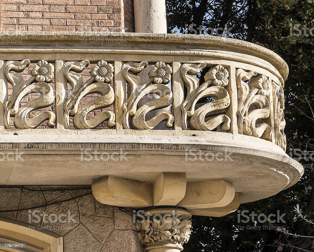 Arquitectura art nouveau detalles de casa rull balc n Art nouveau arquitectura