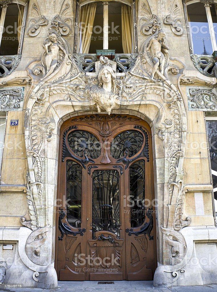 Art Nouveau Architecture in Paris stock photo