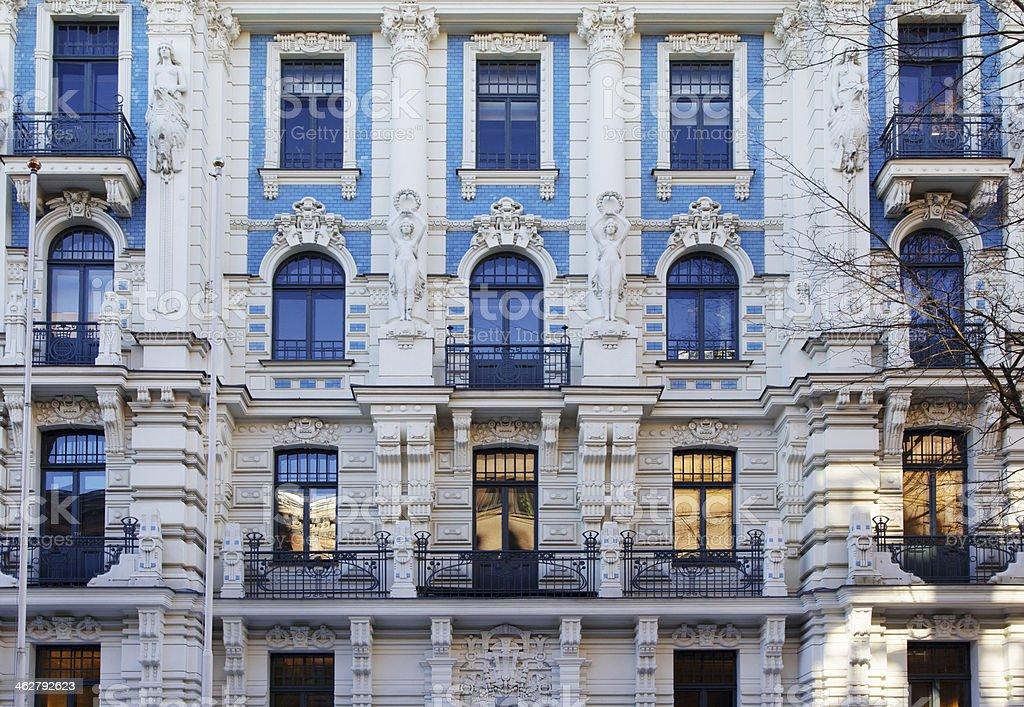 Art Nouveau architecture stock photo