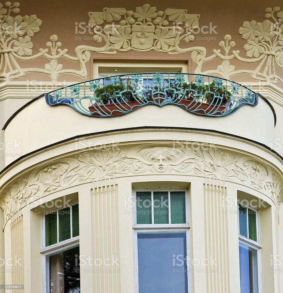Art Nouveau Balcony royalty-free stock photo