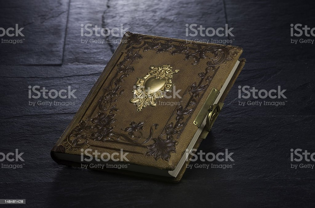 Art Nouveau Book | Leather and Gold royalty-free stock photo
