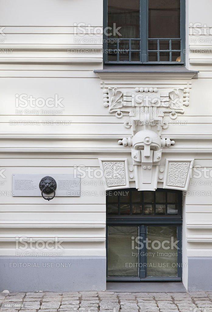 Art Nouveau building detail, Riga-Latvia royalty-free stock photo