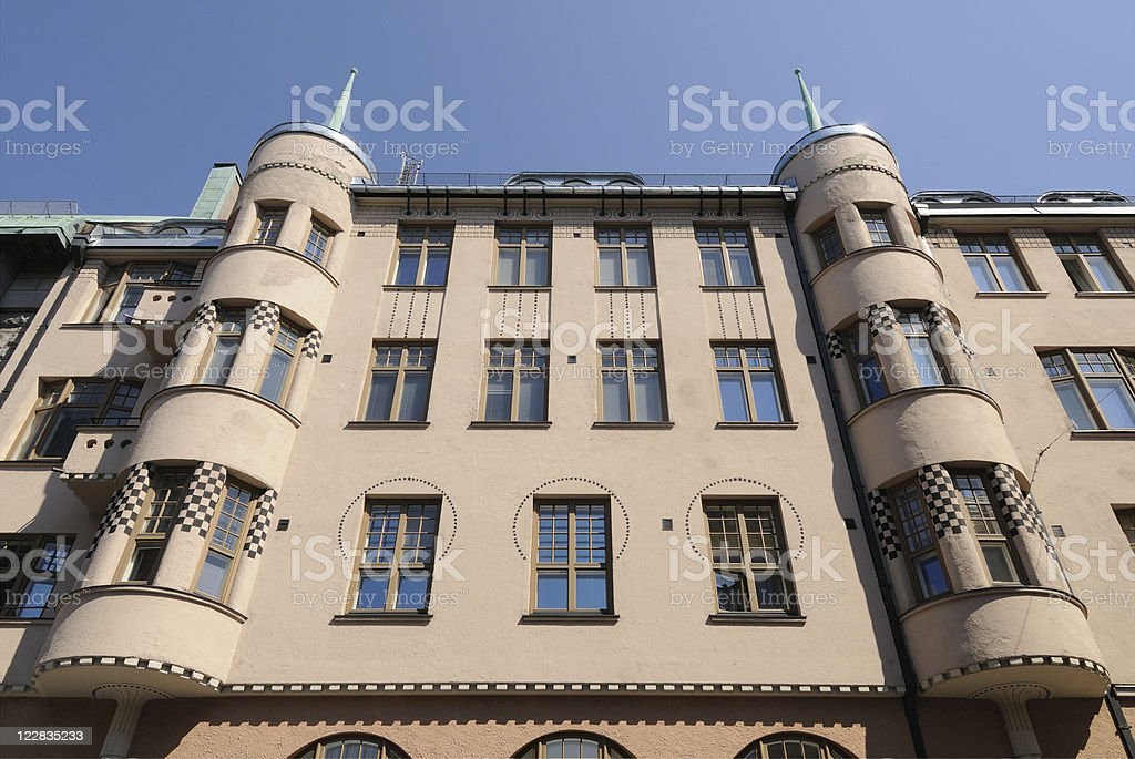 Art Nouveau Building Helsinki stock photo