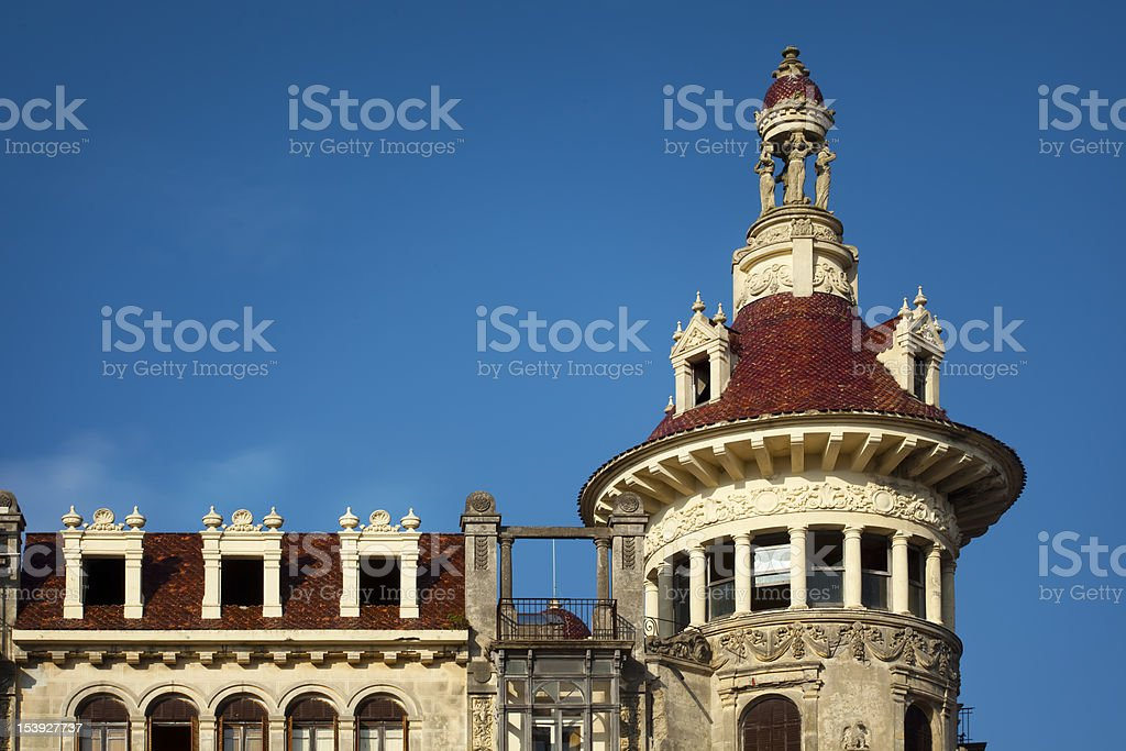 Art nouveau building in Ribadeo, Spain. stock photo