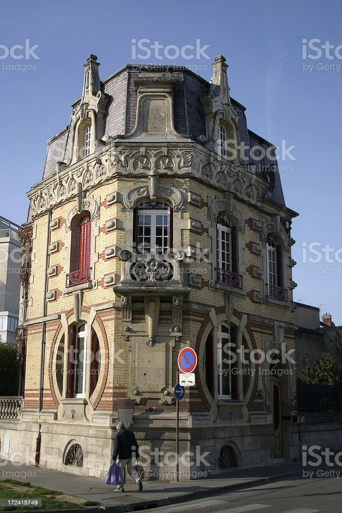 Art Nouveau Building royalty-free stock photo