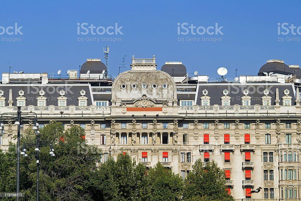 art nouveau building royalty-free stock photo