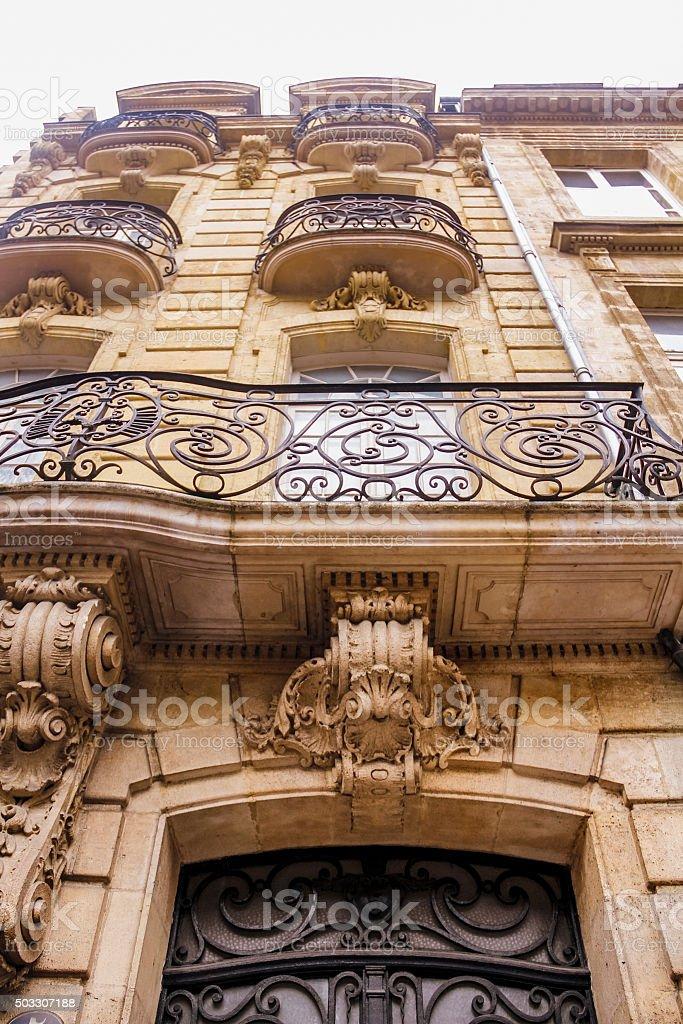 Art nouveau building stock photo