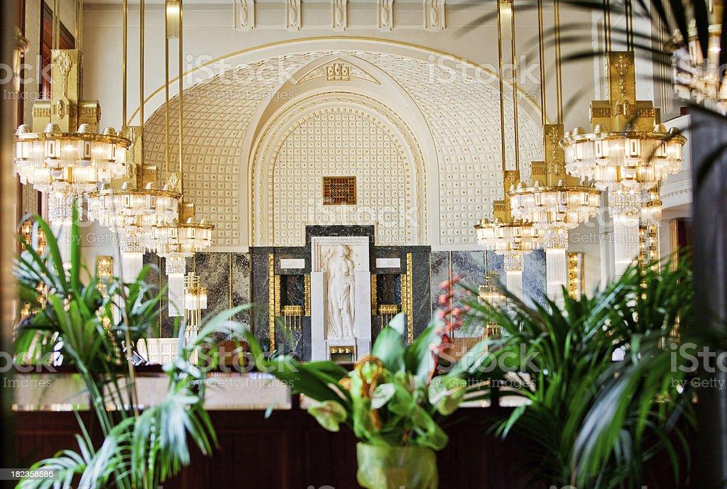 Art Nouveau Cafe stock photo