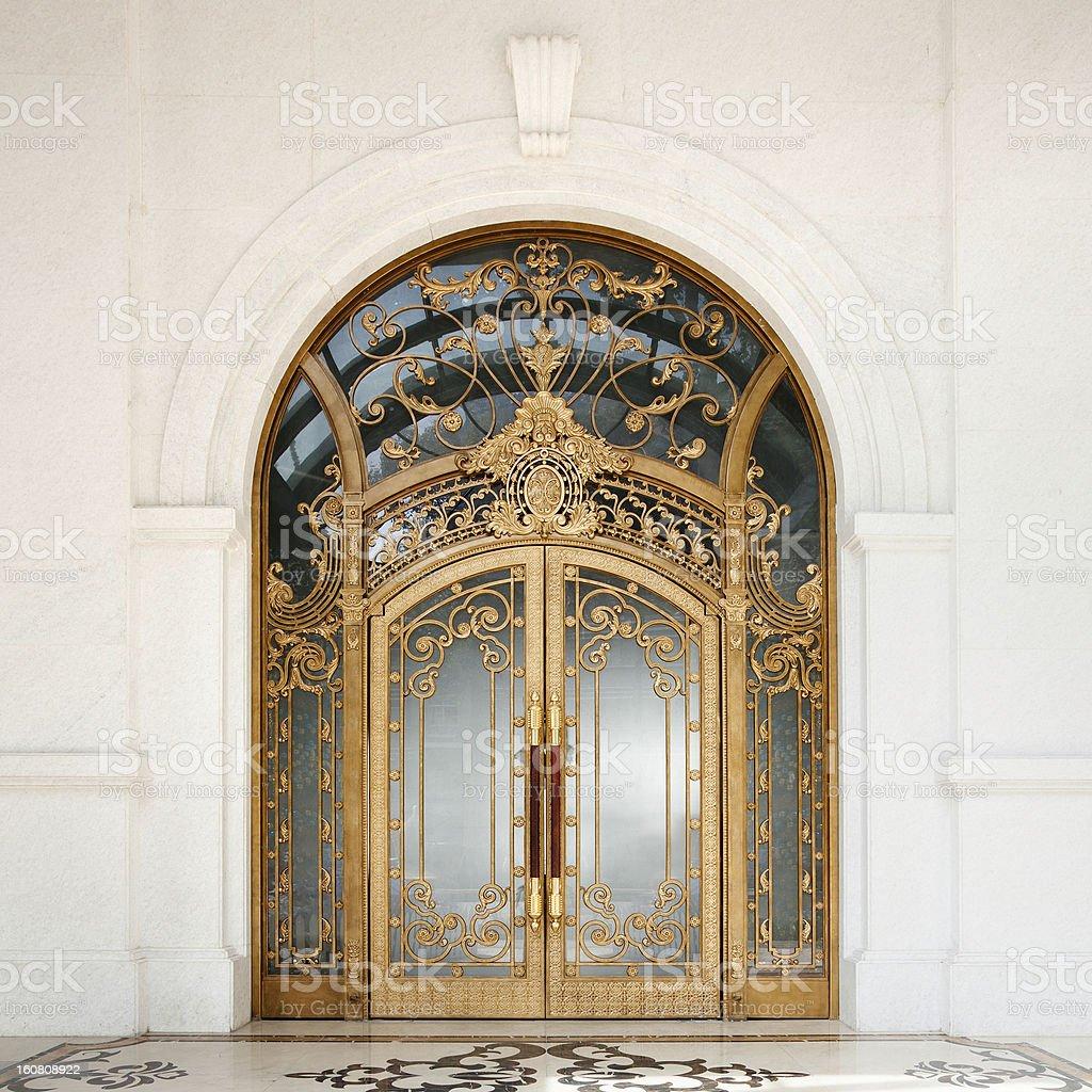 Art nouveau door stock photo