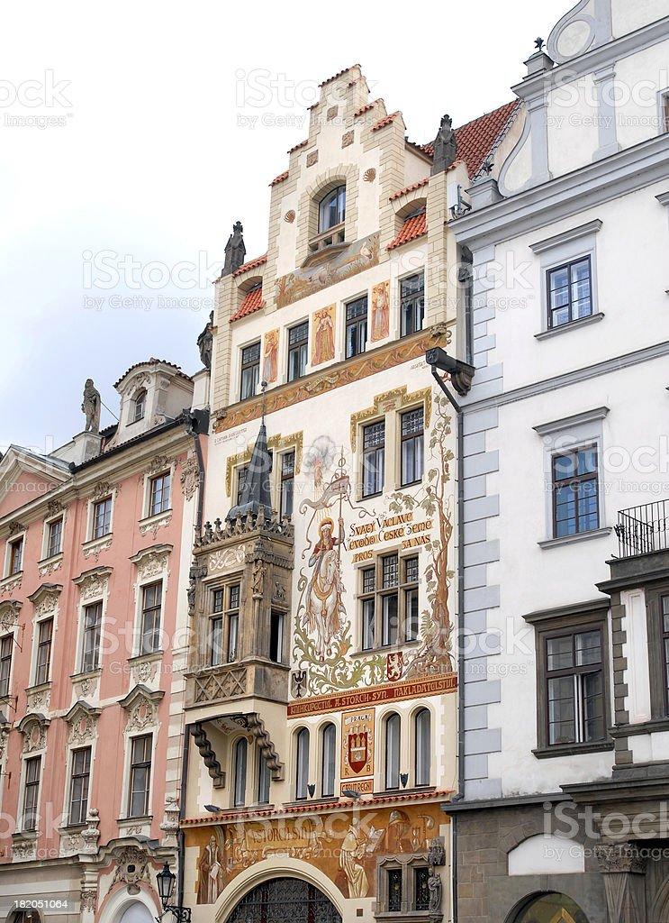 art nouveau facade in Prague royalty-free stock photo