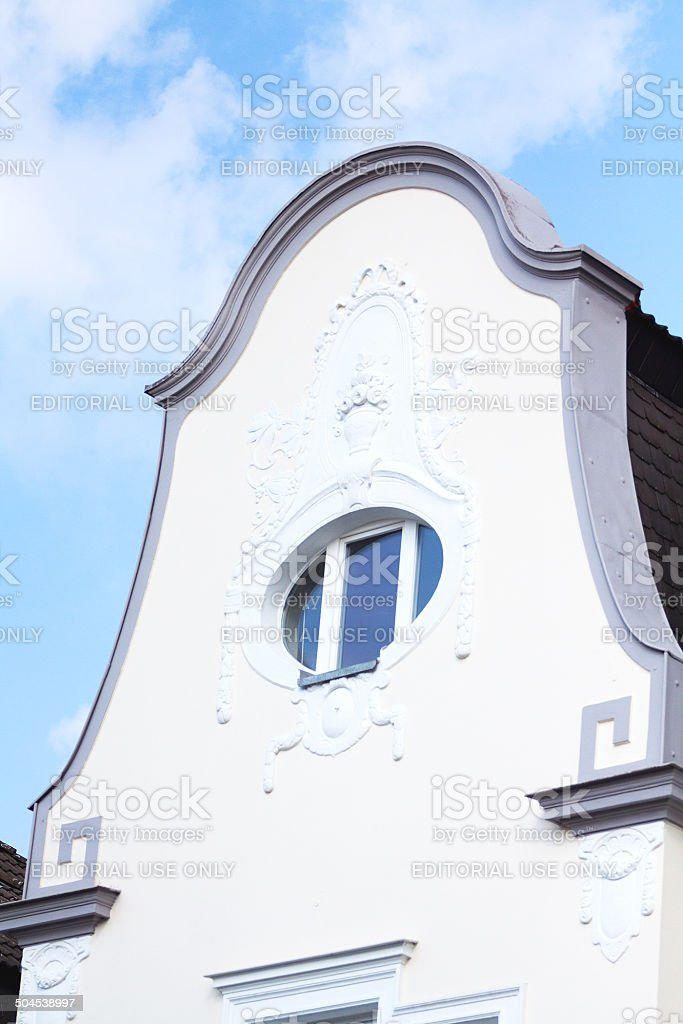 Jugendstil gable royalty-free stock photo
