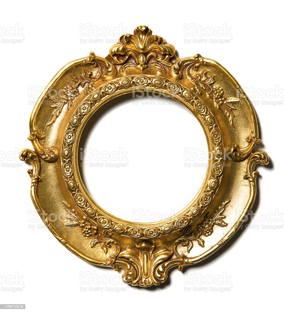 Art Nouveau gold vintage Picture Frame royalty-free stock photo