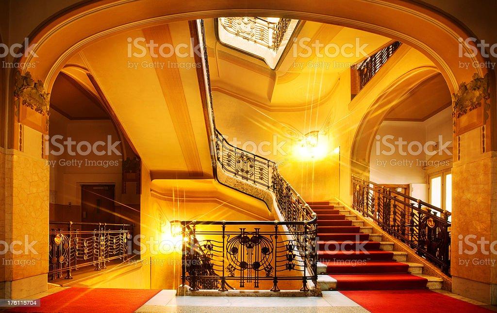 Art Nouveau House stock photo